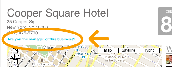 Claim or create your business as a Foursquare Venue